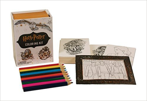 """Kit of 30 Harry Potter Coloring cards, 10 pencils, and 2 """"frames ..."""