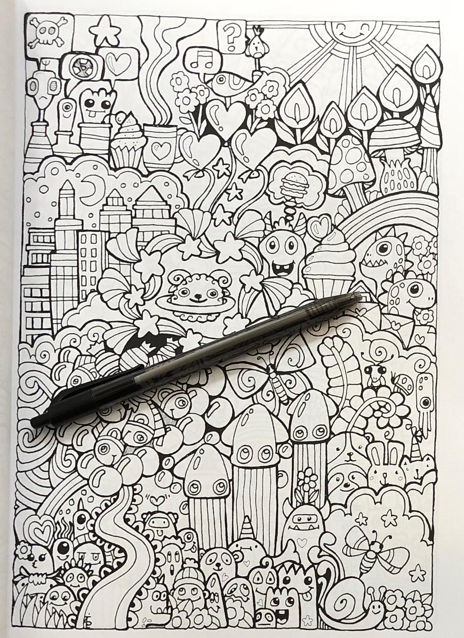 Forever Inspired Coloring Book: Angela Porter's Designer Doodles ...   2069x1506